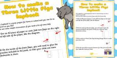 Three Little Pigs Lapbook Instructions Sheet