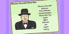 Winston Churchill Word Mat
