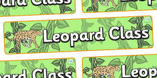Leopard Themed Classroom Display Banner