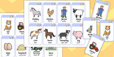 Farm Flashcards Arabic Translation