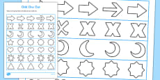 Visual Perception Odd One Out Shape Activity Sheet