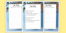 The Wind KS2 Handwriting Practice