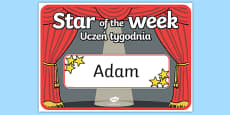Star of the Week Stage A3 Poster Polish Translation