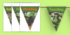Jungle Themed Days of the Week Bunting
