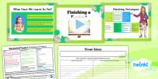 PlanIt - D&T LKS2 - Mechanical Posters Lesson 5: Finishing a Product Lesson Pack