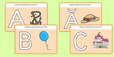 Literele alfabetului A-Z - Planșetă pentru modelaj din plastilină