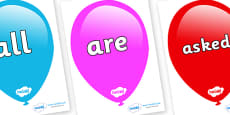 Tricky Words on Balloons