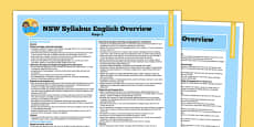 NSW Stage 3 English Syllabus Overview