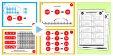 Year 2 Subtracting 2 Digit Numbers and Ones Crossing 10 Lesson Teaching Pack