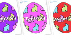 Days of the Week on Easter Eggs (Rabbit)