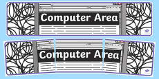 Computer Area Display Banner