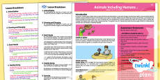 PlanIt - Science Year 2 - Animals Including Humans Planning Overview CfE