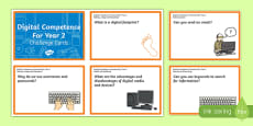 Digital Competence for Year 2 Challenge Cards English Medium English Medium