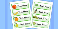 Editable Drawer - Peg - Name Labels (Fruit)