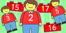 Australia - Toy Man Number Bonds Matching Activity to 20