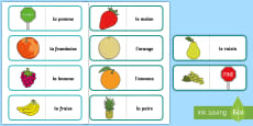 * NEW * Different Fruit Card Game French