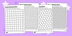 Mosaic Colouring Sheets