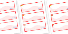 Spain Themed Editable Drawer-Peg-Name Labels (Colourful)