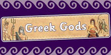 Ancient Greek Gods Display Banner