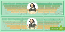 * NEW * Shakespeare Quotations You Use Every Day Display Banner