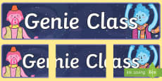 * NEW * Genie Class Display Banner