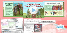 PlanIt - History LKS2 - Crime and Punishment Lesson 2: Anglo-Saxon Laws and Justice Lesson Pack