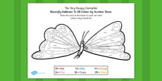 Colour by Number Bonds to 20 to Support Teaching on The Very Hungry Caterpillar