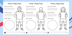 Design a Rugby Player Activity Sheet