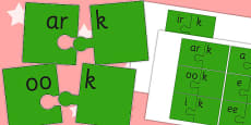 Vowel and Final 'K' Jigsaw Cut Outs