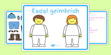Winter Clothes Dress-Up Language Game Gaeilge