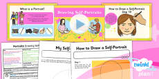 PlanIt - Art KS1 - Portraits Lesson 1: Drawing Self Portraits Lesson Pack