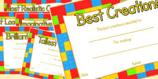 Australia - Toy Figure Creation Award Certificates