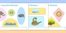 Beach Habitat Cutting Skills Activity Sheet