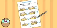 Eggs in Nests Counting Sheet