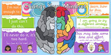 Developing Growth Mindset Display Pack Arabic Translation