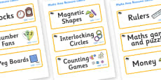 Beetle Themed Editable Maths Area Resource Labels