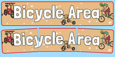 Bicycle Area Display Banner