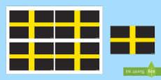 Saint David's Handheld Flag Activity