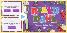 Roald Dahl True or False Quiz PowerPoint