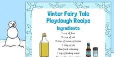 Winter Fairy Tale Playdough Recipe