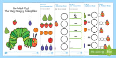 Maths Booklet to Support Teaching on The Very Hungry Caterpillar Arabic/English
