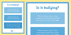 Is It Bullying? Display Poster