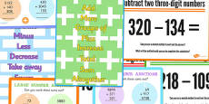 Addition and Subtraction Display Pack LKS2