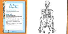 Mr Bones Relay Race Halloween Party Game and Resource Pack