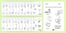 Digraph Colouring Worksheets