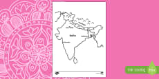 India Map Colouring Activity