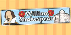 William Shakespeare Display Banner