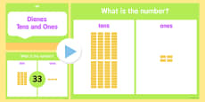 Place Value Dienes Activity PowerPoint Tens and Ones