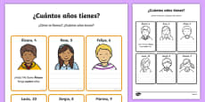 How Old Are You? Activity Sheet