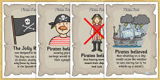 Pirate Fact Display Posters